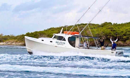 Enjoy Fishing In Willemstad, Curacao On 42' Cuddy Cabin Boat