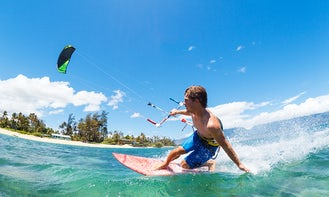 Kitesurfing 4kms and 20kms Downwind Lessons in Mahebourg, Mauritius