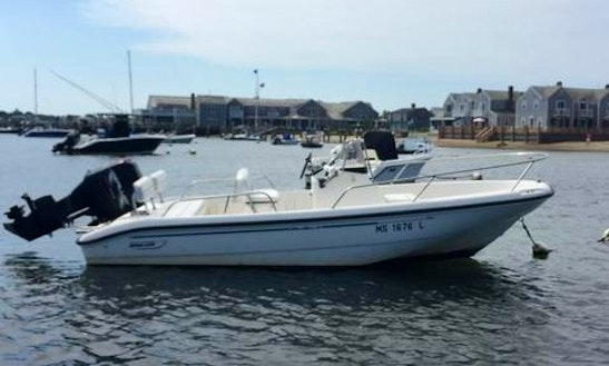 Rent The 18ft Boston Whaler Dauntless Center Console In Nantucket