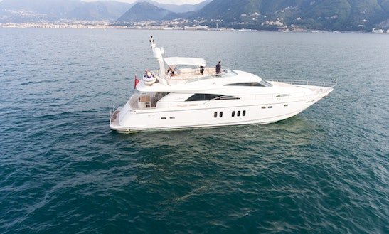 Luxury Motor Yacht 74' Rental In Sorrento, Italy