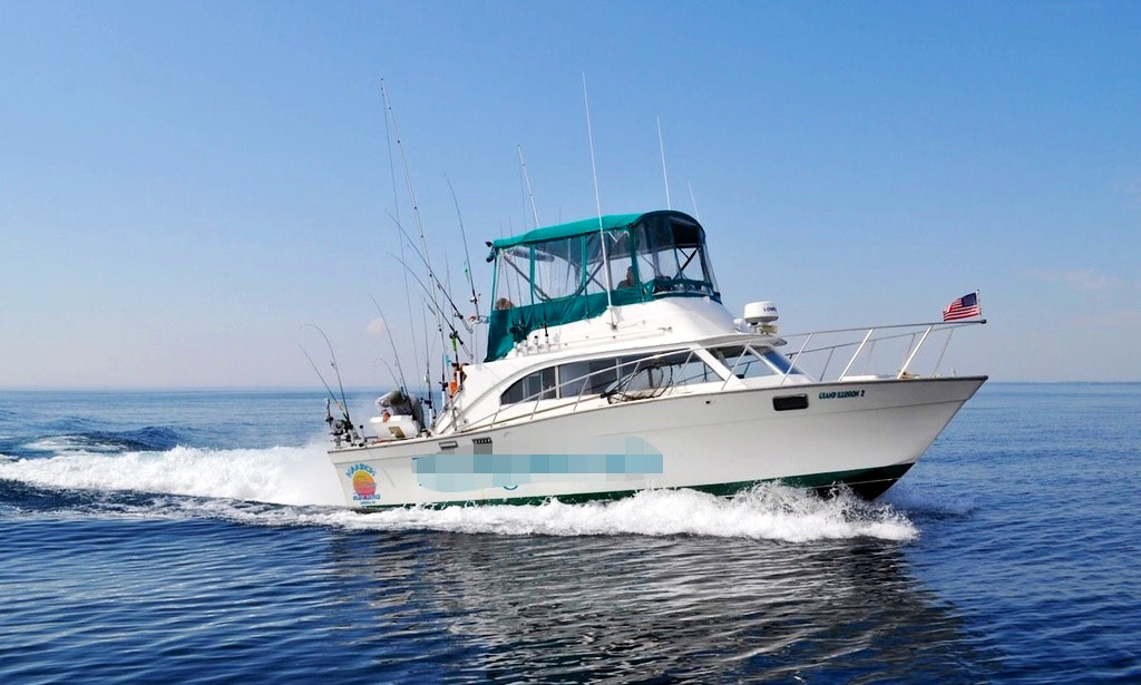 Fishing charter on 34ft grand illusion 2 sport fisherman for Algoma fishing charters