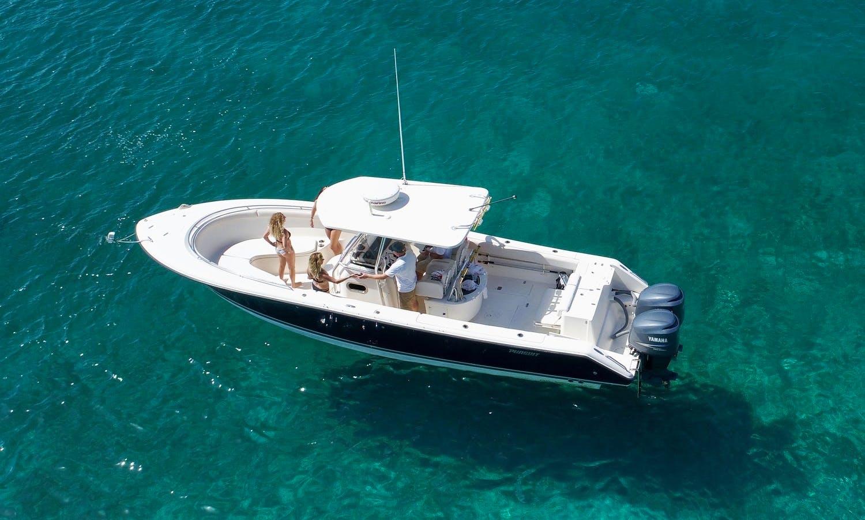 "Rent the 31ft ""Ellipseas"" Pursuit Center Console from St. Thomas, U.S. Virgin Islands"