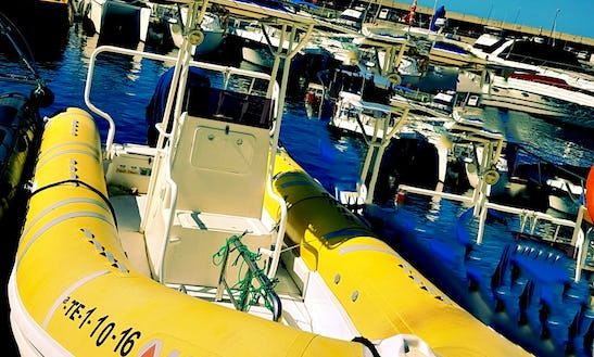 Enjoy Costa Adeje By Boat! Rent This 24' Apex Inflatable Boat