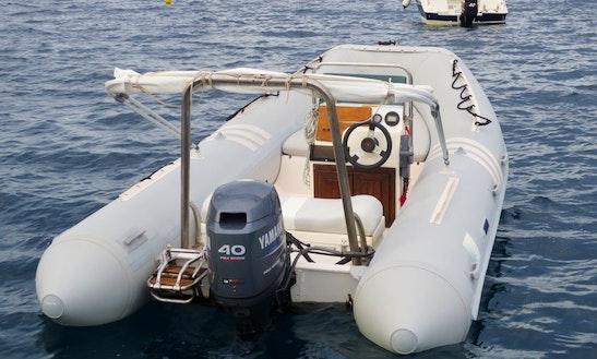 Rent 17' Lomac Rigid Inflatable Boat In Lingua, Sicilia