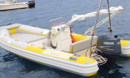 Rent 18' Gommorizzo Rigid Inflatable Boat In Lingua, Sicilia