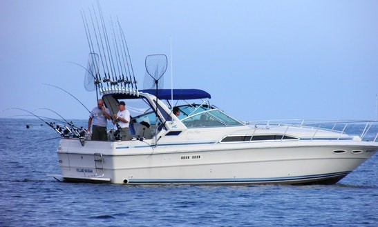 Lake Michigan Fishing Charter On 34' Searay Express With Captain Jeff