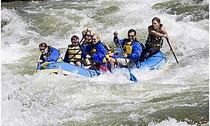Get Outdoor! Book a Whitewater Rafting Trip for 6 Person in Loket, Czechia with