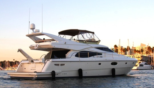 Captained Charter On 62' Uniq Feretti Power Mega Yacht In Marina Del Rey