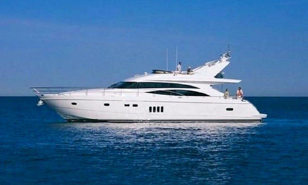 Charter 65' Princess Power Mega Yacht in Limasol, Cyprus