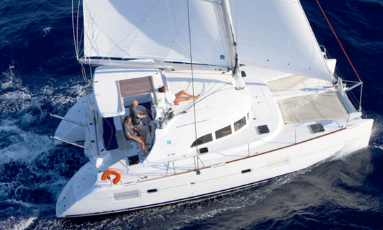 Charter 38' Lagoon Cruising Catamaran In Sicily, Italy