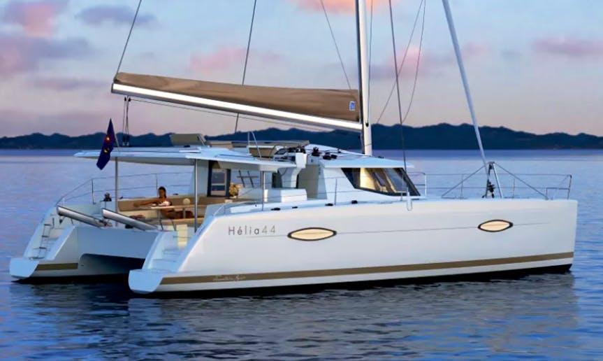Charter 44' Helia Cruising Catamaran Rental in Baranzate, Italy