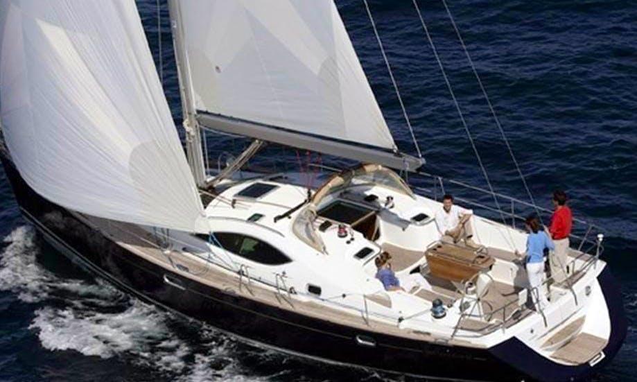 Charter 49' Jeanneau Sun Odyssey Cruising Monohull in Taranto, Italy