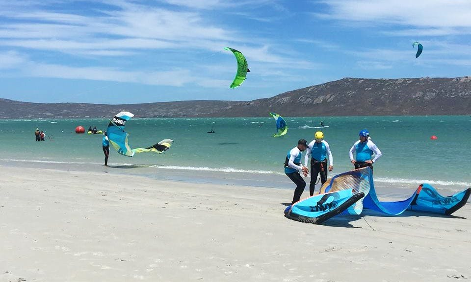 Fun Kiteboarding Lessons in Langebaan, South Africa