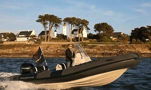 Charter 22' Manta 680 Rigid Inflatable Boat in Pays De La Loire, France
