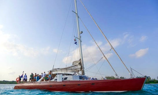 Captained Charter On 75' Sailing Catamaran In Puerto Aventuras