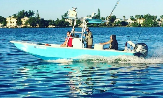 Guided Fishing Trip On Mako 211 Bay Shark Boat In South Florida With Capt. Wes
