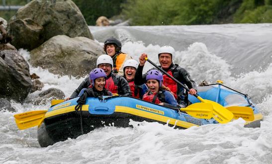 Enjoy Rafting In Ilanz, Switzerland