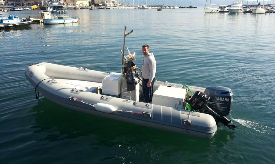 Rent 20' Marshal M Rigid Inflatable Boat In Naples, Italy