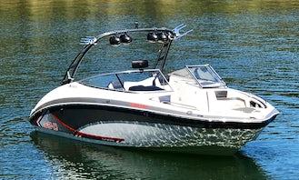 24' Yamaha Ski Boat Rental In Lake Tahoe with Bimini Top