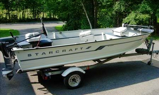 16' Starcraft Fishing Boat Rental In Lavigne, Ontario