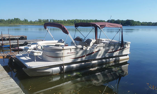 24' Pontoon Boat Rental In Lavigne, Ortario