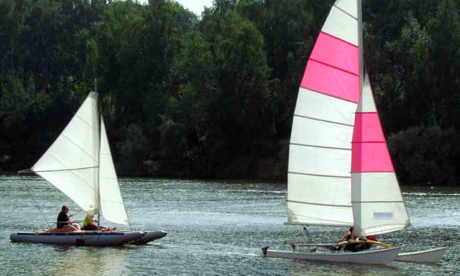 Hire a Two Seater Hobie Cat Sailing Catamaran in Istra, Moscow Oblast'