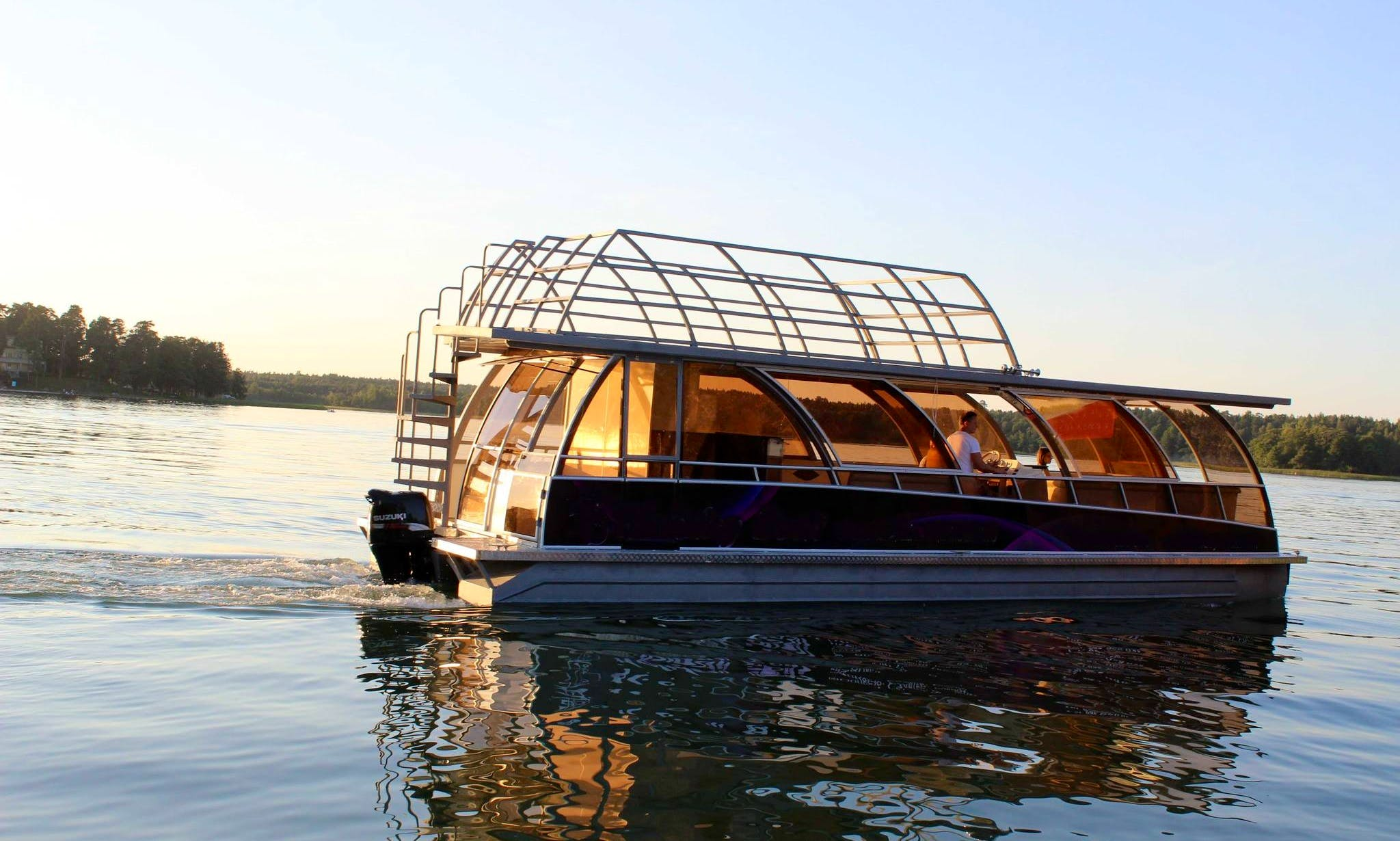 Charter a Pontoon Catamaran Party Boat in Trakai, Vilniaus apskritis for 25 Pax