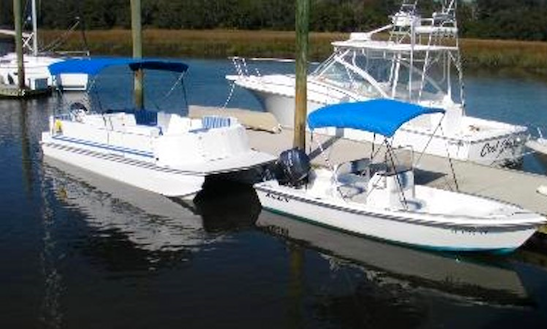 23' Deck Boat Rental In Fernandina Beach