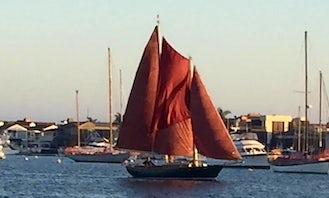 Private Cruises on 1976 Sailing Schooner in and around Newport Beach California