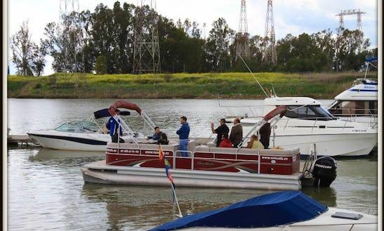 Rent This 10 People Pontoon Boat In Gelves, Spain