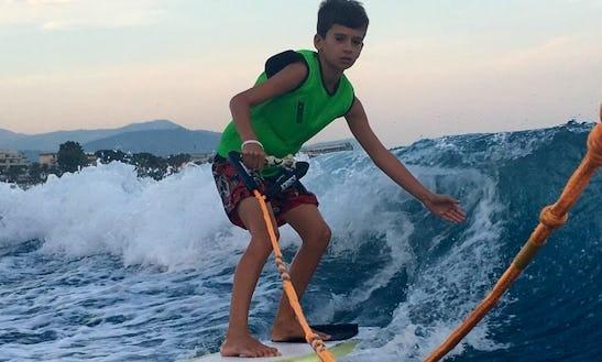 Enjoy Wakesurfing In Saint-laurent-du-var, France