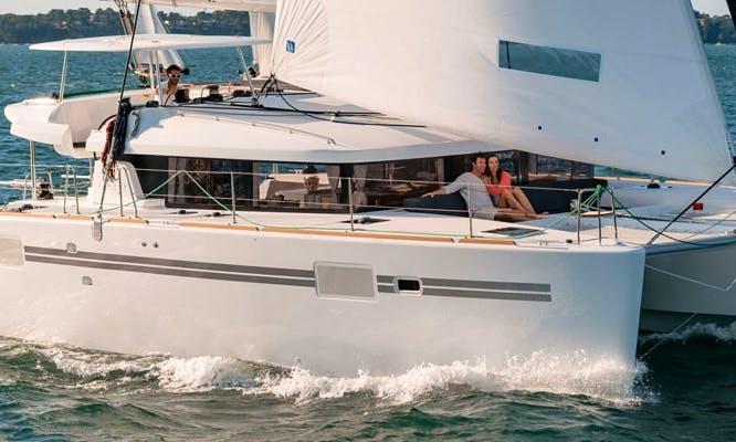 Charter 45' Lagoon Cruising Catamaran in Algarve, Portugal