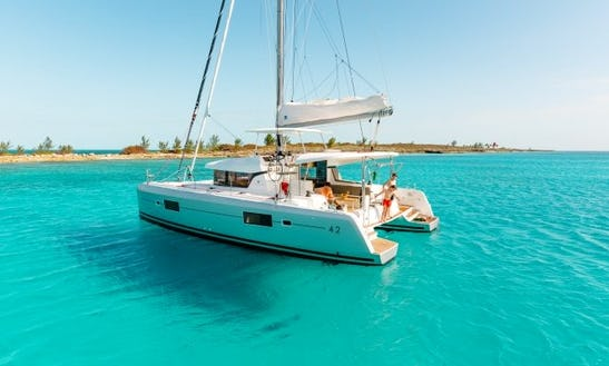 Charter 42' Lagoon Cruising Catamaran In Algarve, Portugal