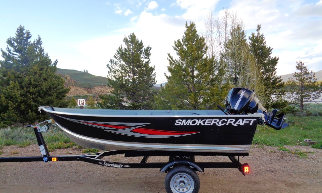 12' Smoker Craft Dinghy Rental In Grand Lake, Shadow Mountain Lake, Lake Granby, Colorado
