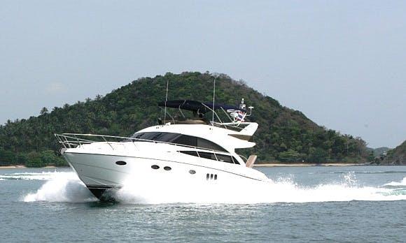 Charter 54' Princess Power Mega Yacht in Koh Keaw, Phuket