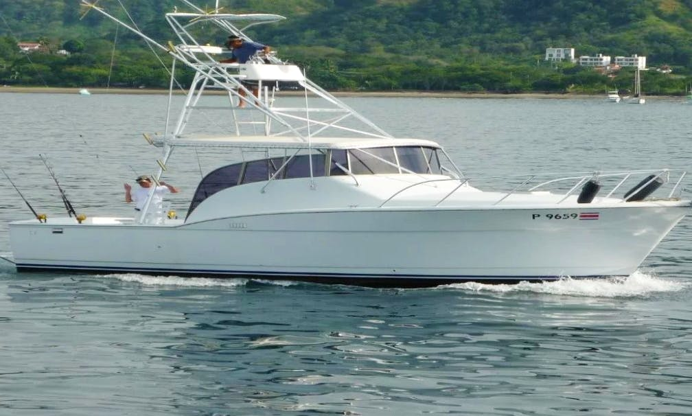 Playa Flamingo Fishing Charter on 37' Chris Craft Yacht