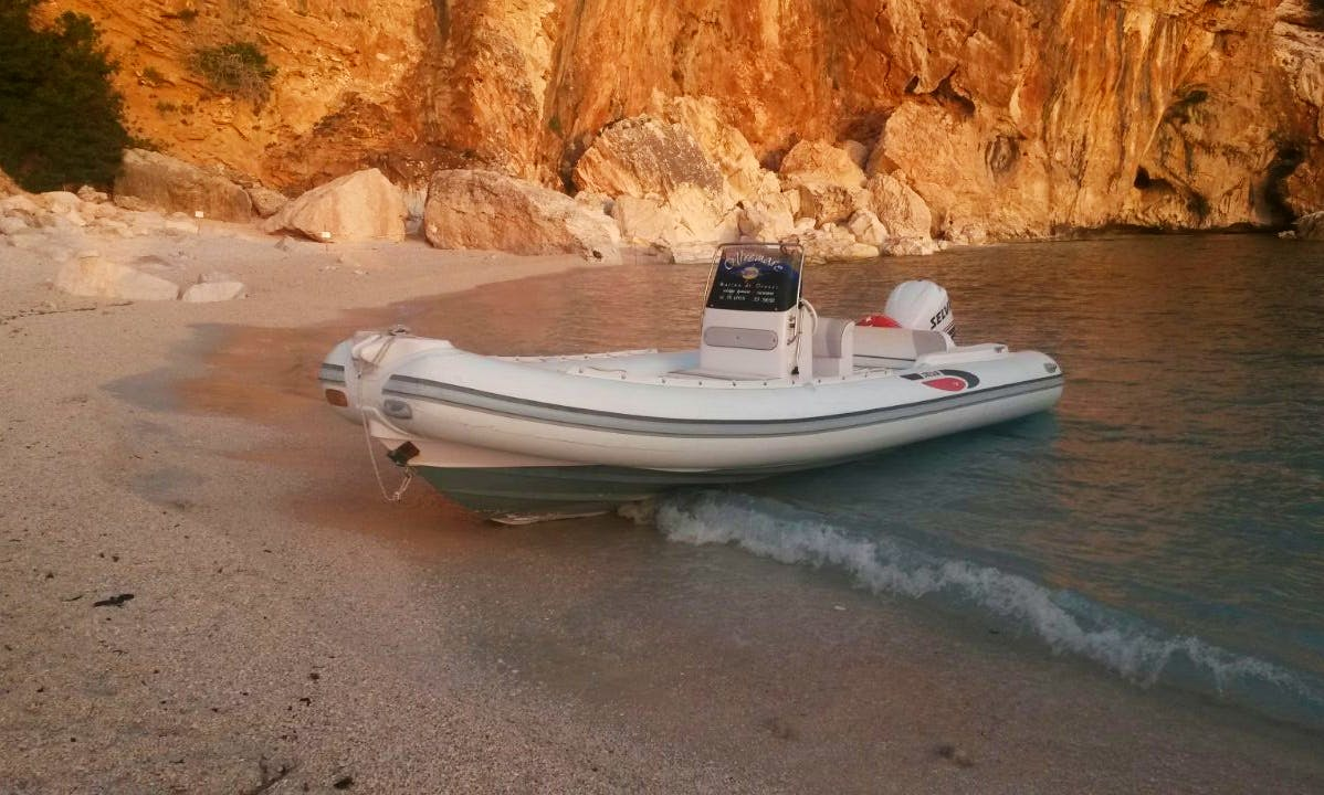 Rent a Rigid Inflatable Boat in Orosei, Sardegna For 6 Pax