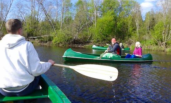 Rent A Canoe In Ropazi, Latvia.