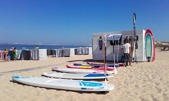 Stand Up Paddleboard School At Praia Da Consolação, Peniche