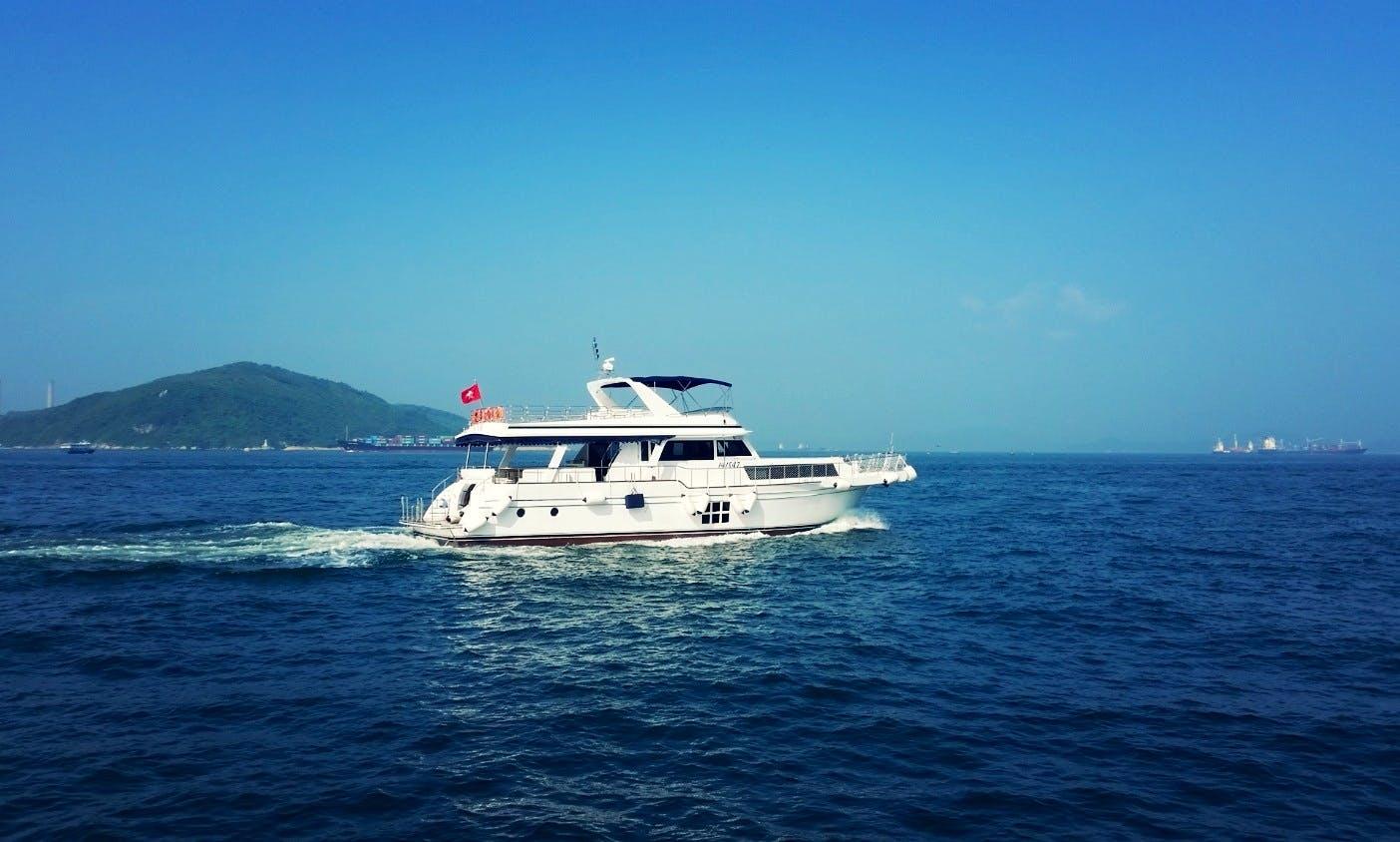 Charter A Bellagio 72 Power Mega Yacht in Hong Kong Island