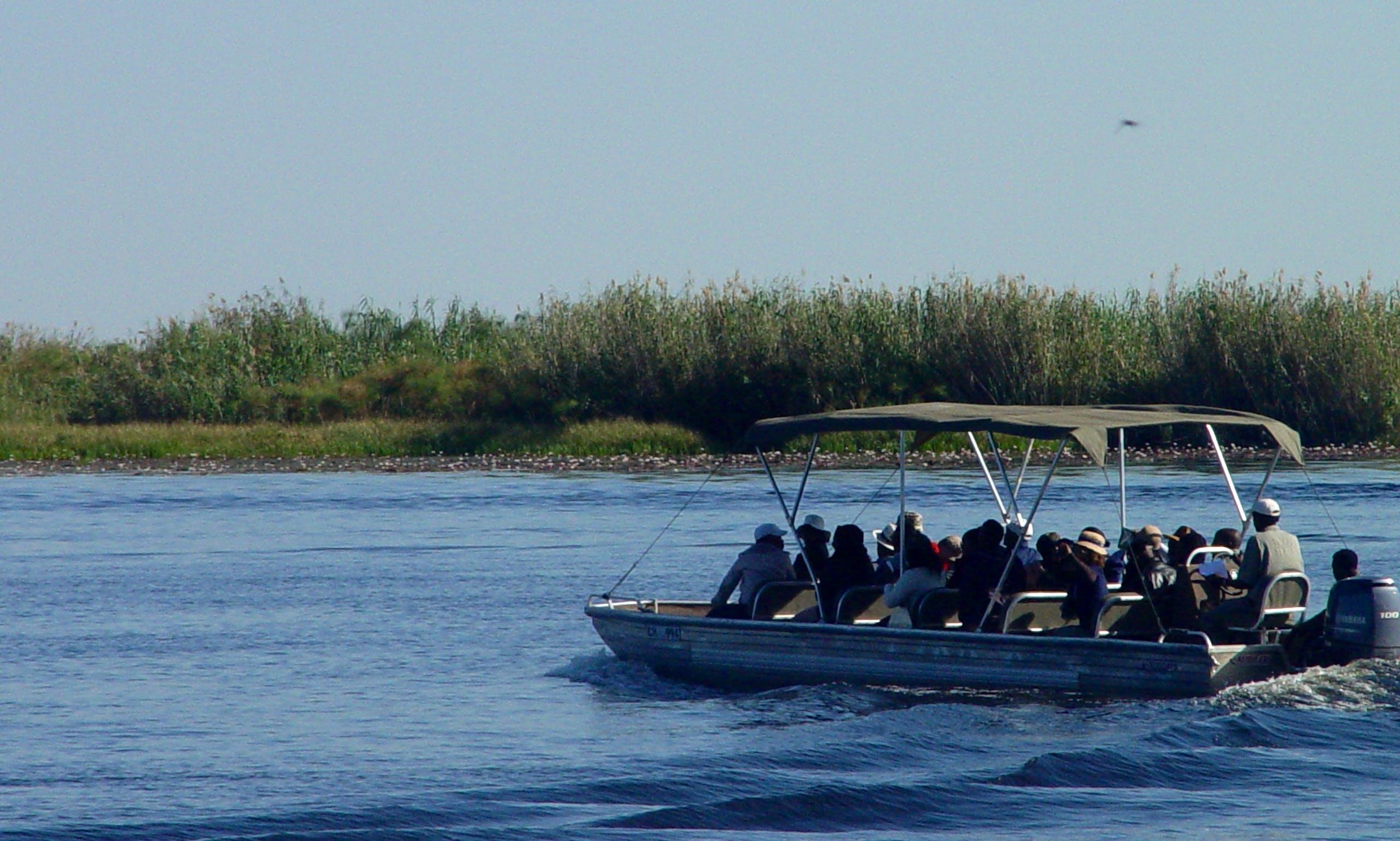 20 Seater Passenger Boat Trips in Kasane