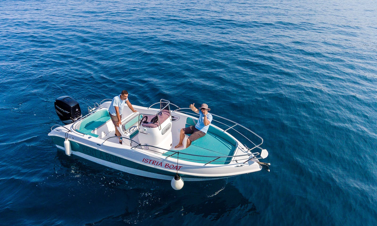 Bluline 21 open, for 8 persons in Rabac