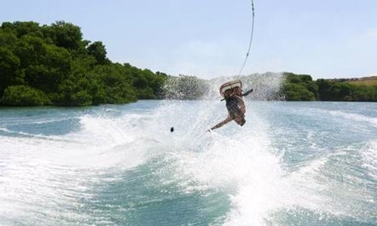 Water Skiing Lesson In Noord, Aruba