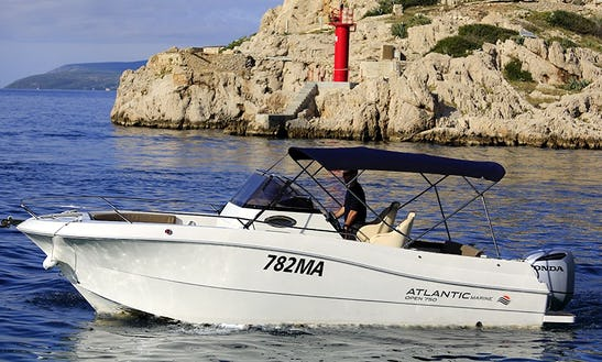 Rent A 23' Atlanic Marine 750 Deck Boat Rental In Makarska, Croatia