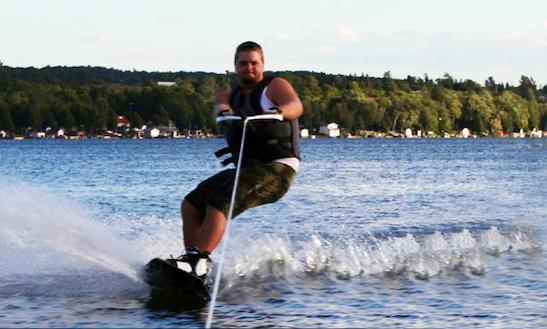 Wakeboarding In Tukums, Latvia