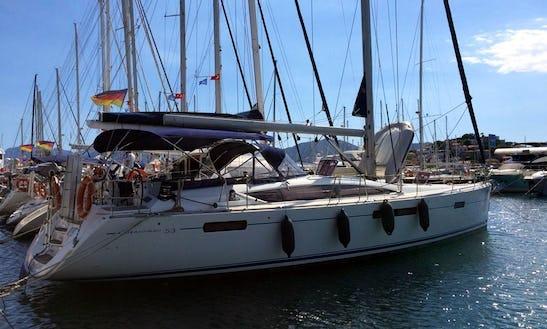 Charter 53' Jeanneau Cruising Monohull In Mugla, Turkey
