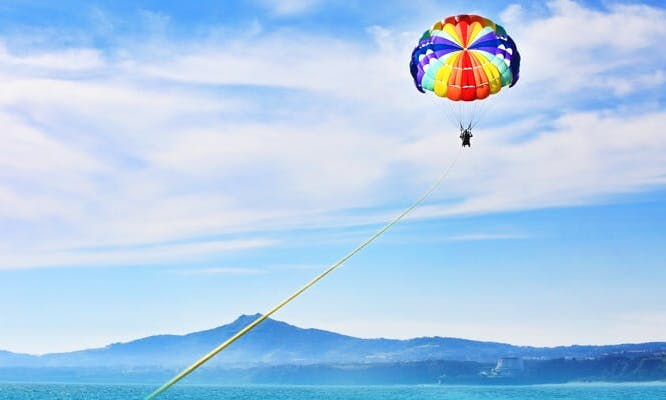 A Breathtaking Parasail Adventure in Bali, Indonesia