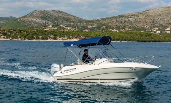 Rent This Quicksilver Commander 555 Center Console In Trogir, Croatia