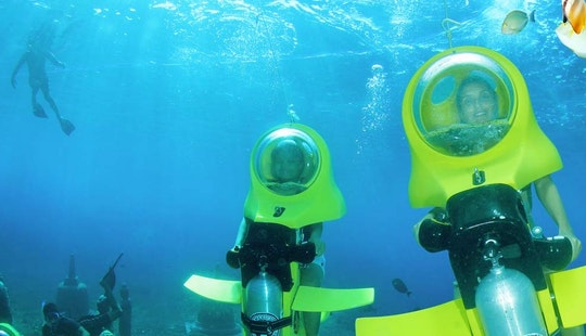 Enjoy Underwater Scooter Ceningan Day Tours In Kuta, Bali