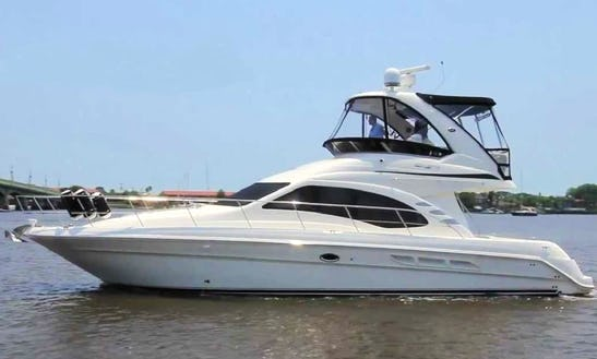 Charter 46' Sea Ray Luxury Sedan Bridge Motor Yacht In North Miami Beach, Florida